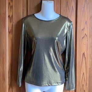 Gold/Bronze Metallic Holt Renfrew Top